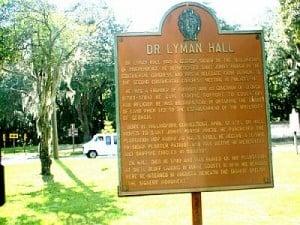 Dr Lyman Hall Historical Marker