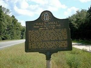 Halls Knoll Historical Marker