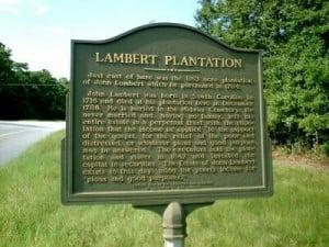 Lambert Plantation Historical Marker