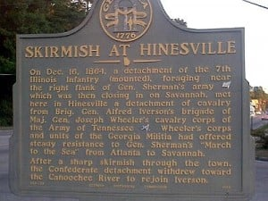 Skirmish at Hinesville Marker
