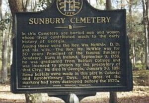 Sunbury Cemetery Marker