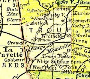 Troup County from 1895 Atlas