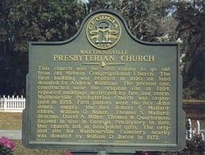 Walthourville Presbyterian Church Marker