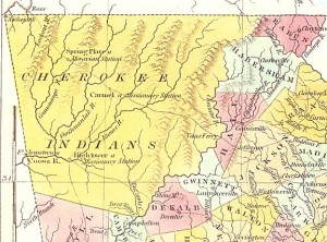 1830 Map of the Cherokee Nation