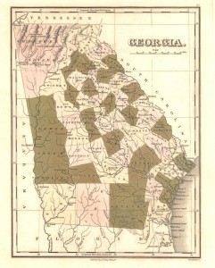 1822 Map of Georgia