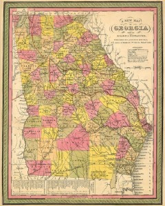 1846 Map of Georgia