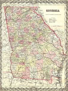 1855 Map of Georgia
