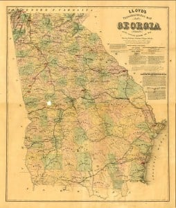 1864 Map of Georgia
