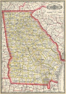 1885 Map of Georgia