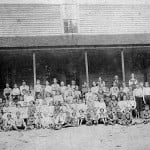 Photograph of Bond Academy, Bond Community, Madison County, Georgia, ca. 1905.