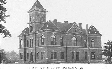Madison County Courthouse in the Early 1900s