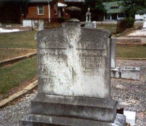 Headstone of Susan America Malcom
