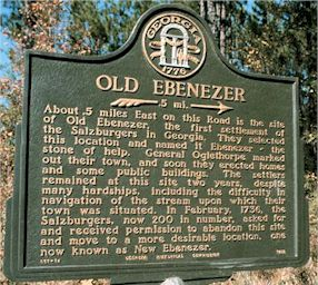 Old Ebenezer Historical Marker